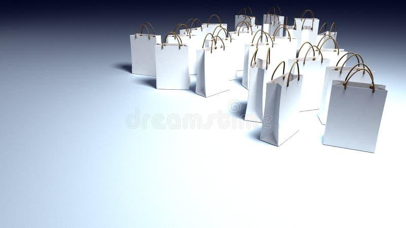 Relaxing shopping stock illustration