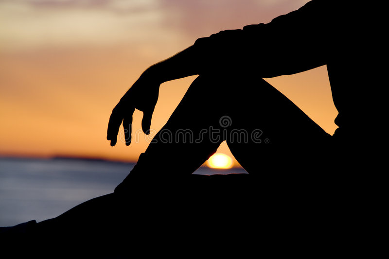 Download Relaxing Silhouette stock image. Image of relaxing, ocean - 9333735