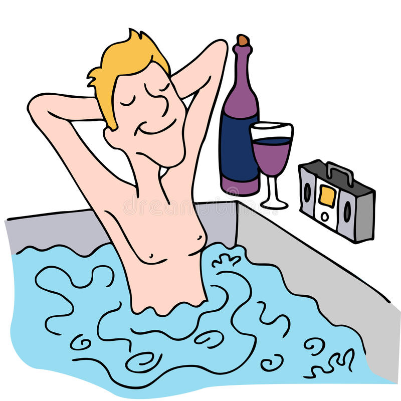 Download Relaxing in a Spa stock illustration. Image of bathing - 19093663