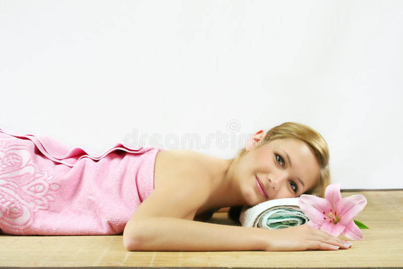 Relaxing in spa royalty free stock images