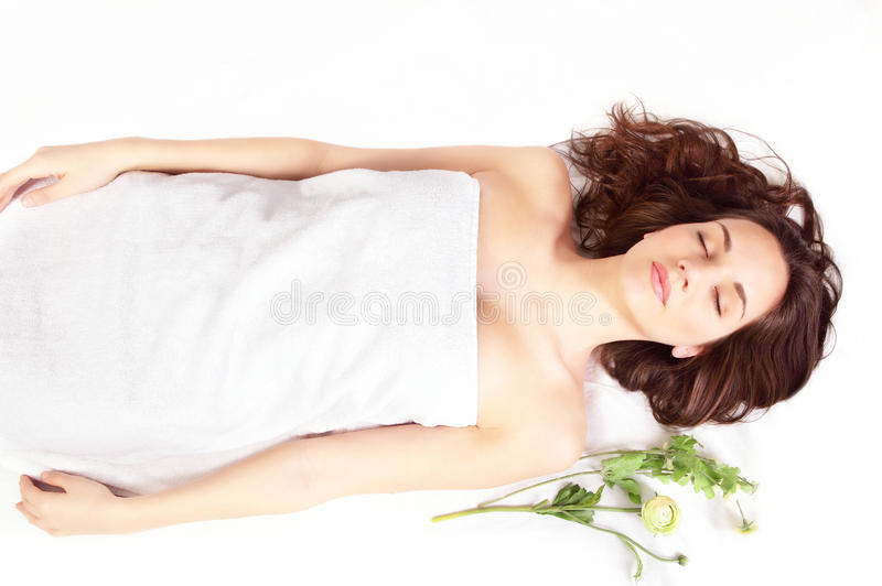 Download Relaxing spa stock photo. Image of brunette, healthy - 30942068