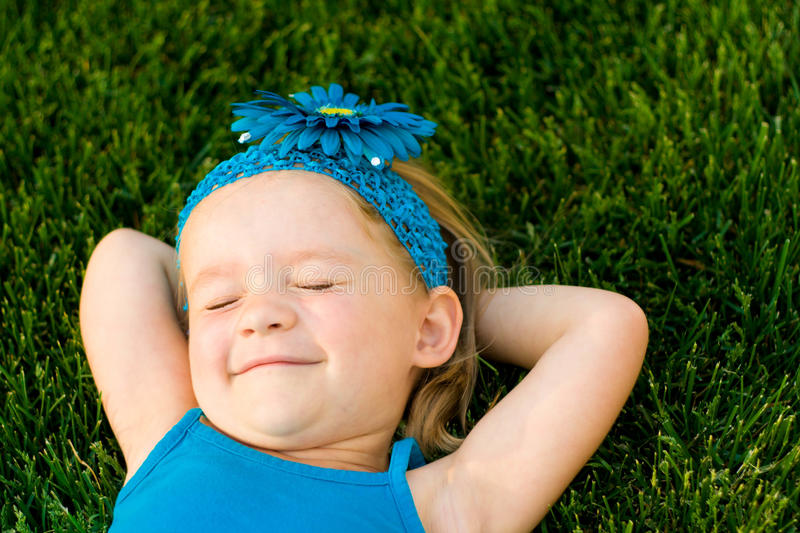 Relaxing summer day stock photo