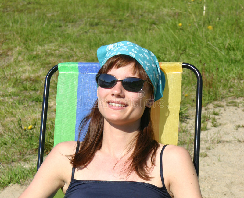 Relaxing In The Sun Stock Photos