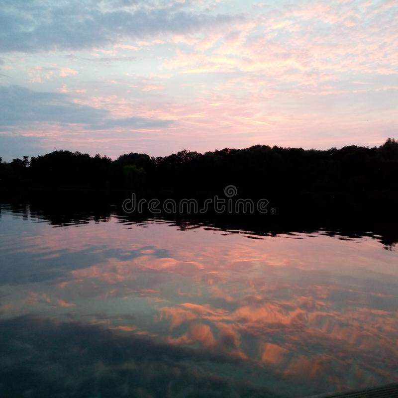 Relaxing after Sunset royalty free stock photos