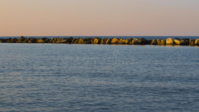 Relaxing view. On sea in a summer day royalty free stock photo