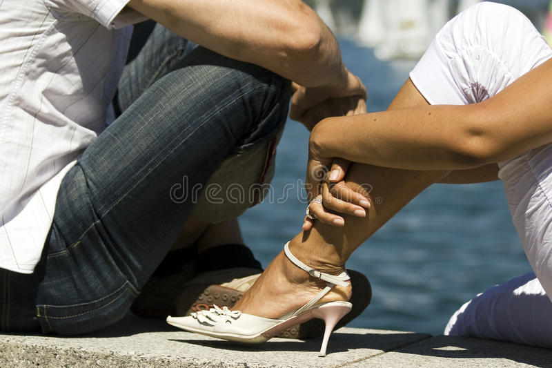 Relaxing By The Water Royalty Free Stock Photos