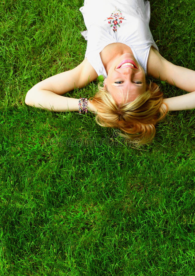 Relaxing woman stock image