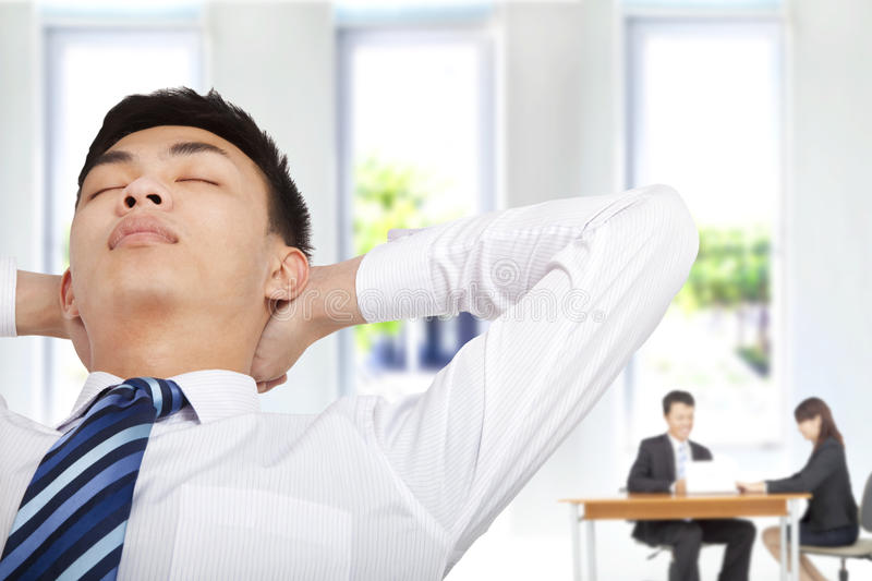 Download Relaxwd Businessman In Office Royalty Free Stock Photos - Image: 24892228