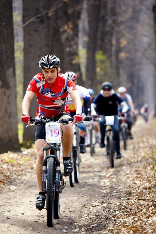 relay för race för berg för cykellandskors arkivfoto