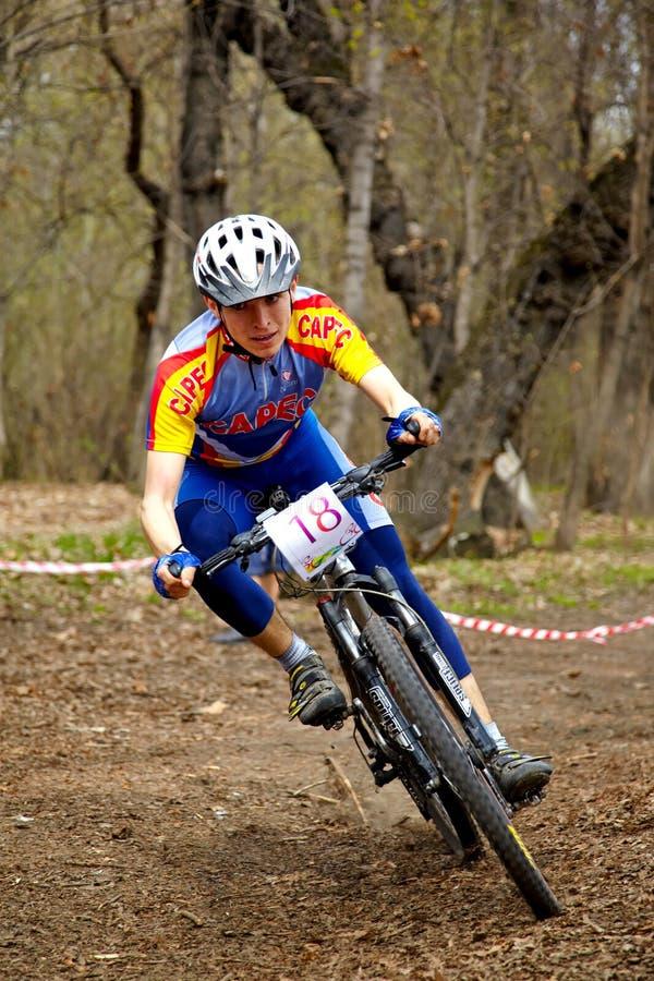 relay för race för berg för cykellandskors royaltyfri bild
