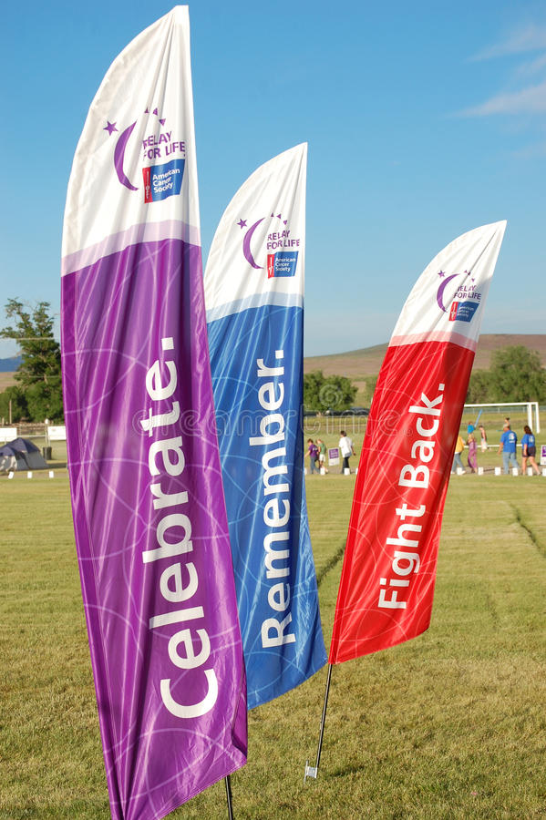 Free Relay For Life Flags Royalty Free Stock Photos - 14800588
