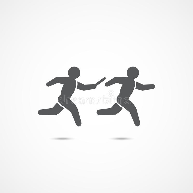 Relay race icon. stock vector. Illustration of assistance - 108506720