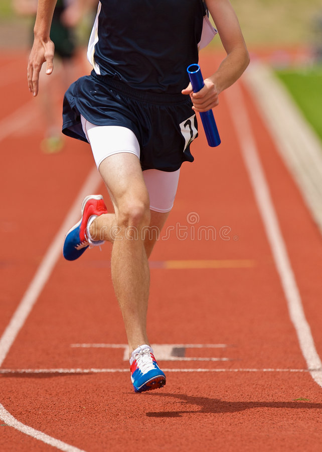 Relay runner royalty free stock photo