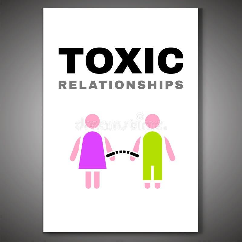 Relazioni tossiche Poster-08 royalty illustrazione gratis
