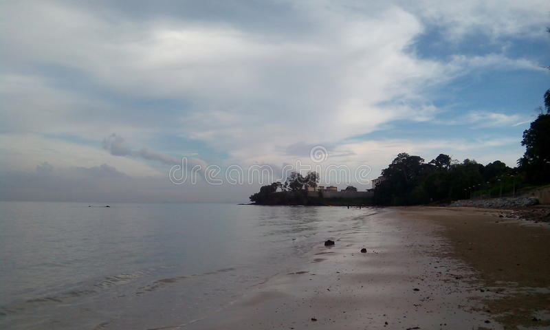 Release Mind at Fascinating Beach. Quiet beach atmosphere at one of the beaches in Telok Kemang , Port Dickson , Negeri Sembilan , Malaysia stock images