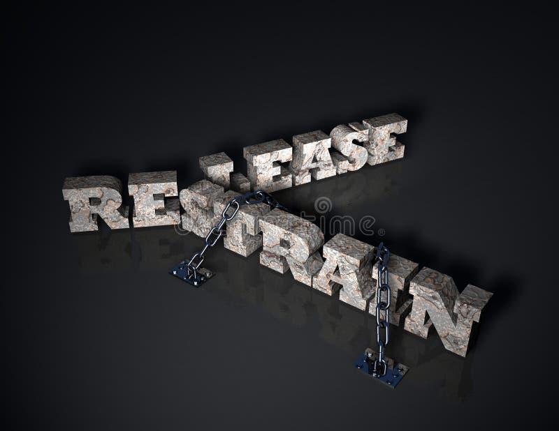 Release/versión o refrene libre illustration