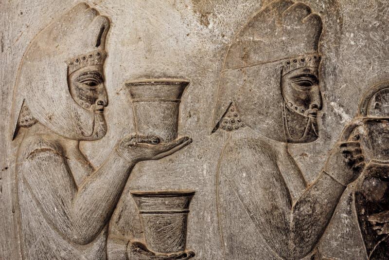 Relevación de Persepolis Bas fotografía de archivo