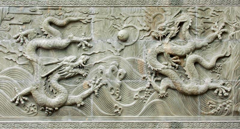 Relevación del dragón tradicional chino foto de archivo