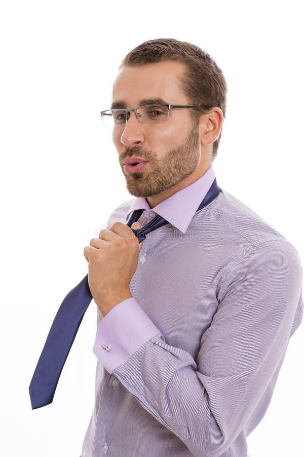 Relevación del hombre de negocios imagen de archivo