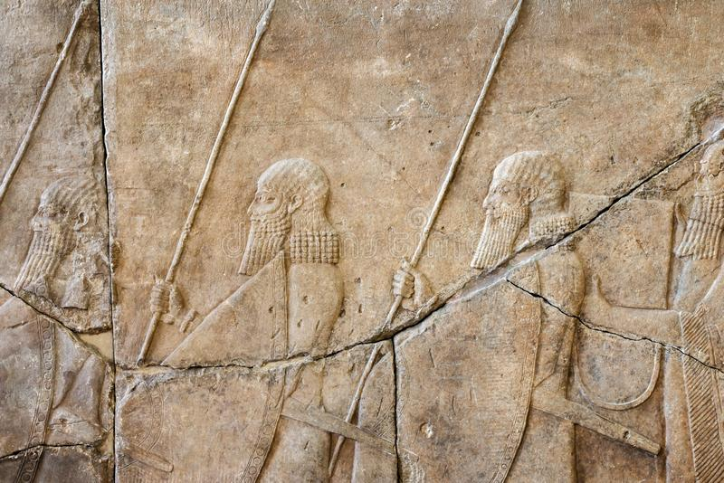 Relevaci?n asiria antigua fotos de archivo libres de regalías
