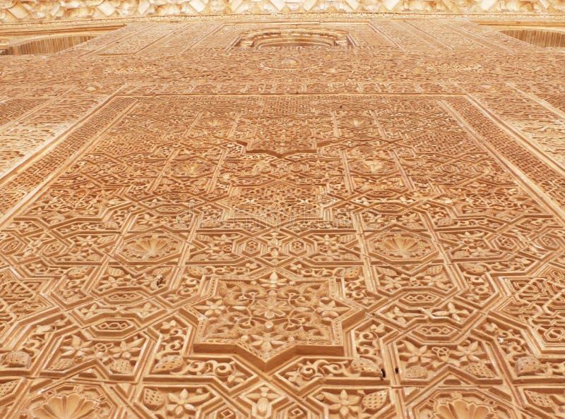 Relevaciones árabes decorativas. Alhambra imagenes de archivo