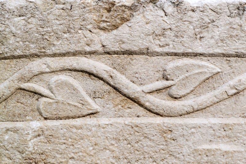 Relevo arquitetónico na pedra imagens de stock