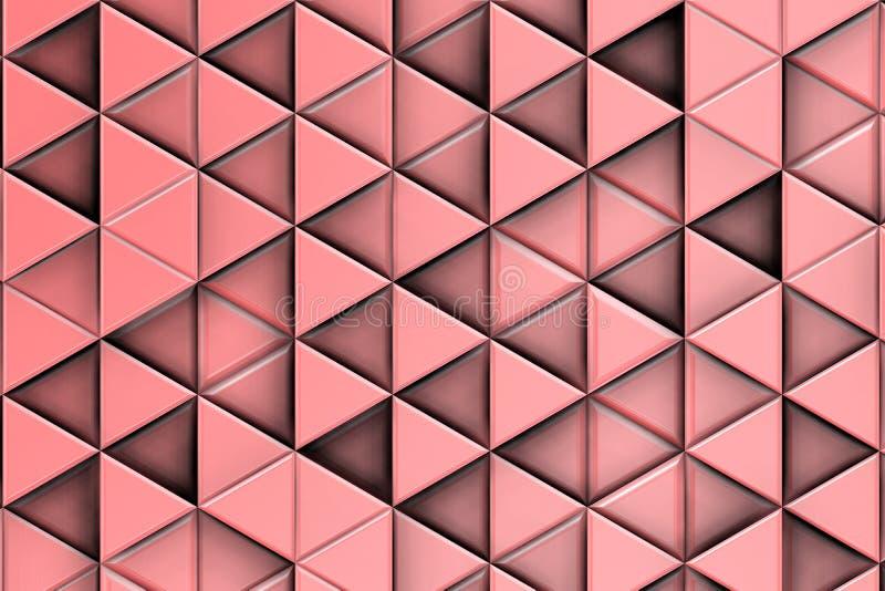 Relevo cor-de-rosa decorativo com triângulos e sombras imagem de stock royalty free