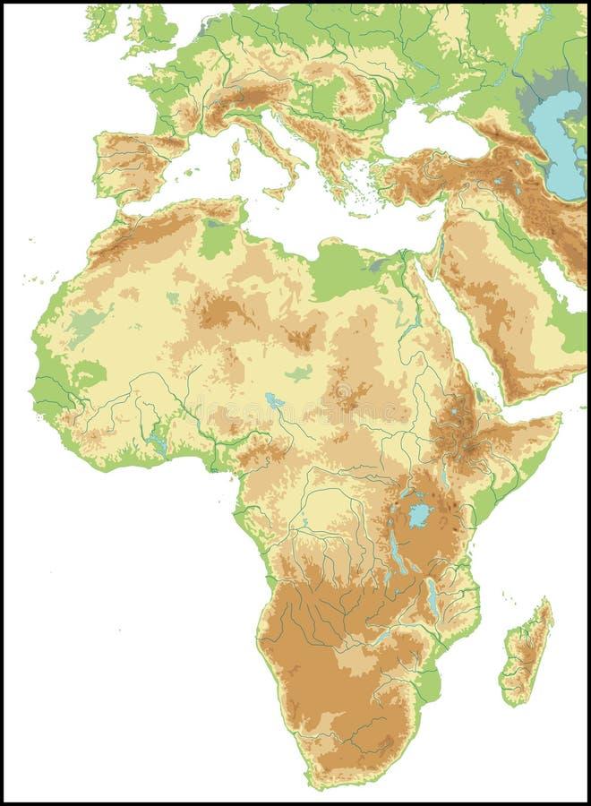 Relevo de África. ilustração royalty free