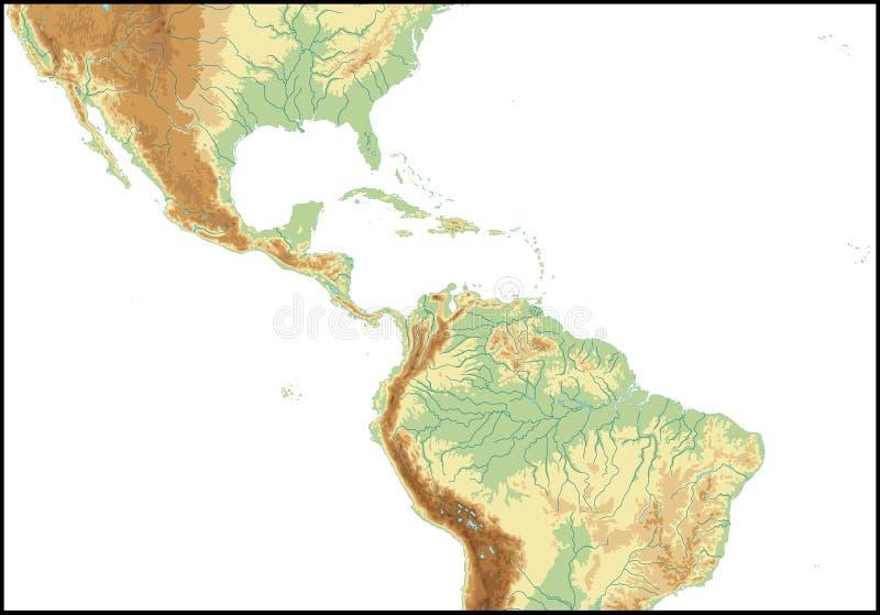 Relevo de América Central. ilustração royalty free