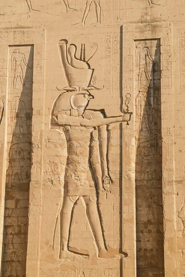 Relevo de Bas de Horus foto de stock