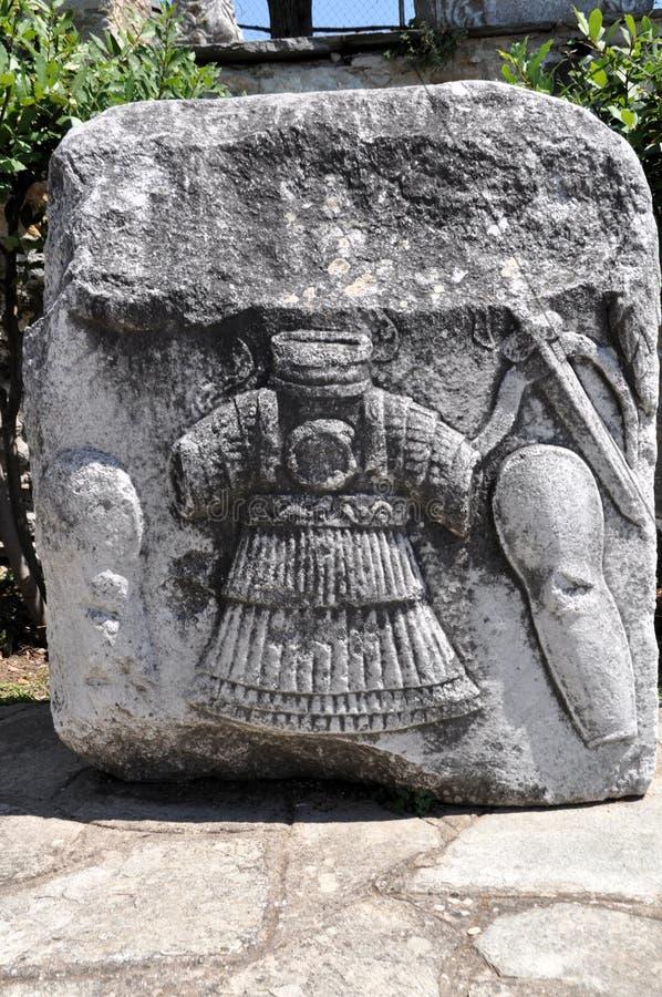 Relevo de um guerreiro grego foto de stock royalty free