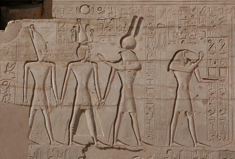 Relevo egípcio fotos de stock