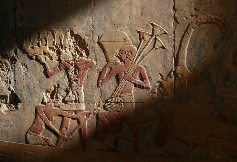 Relevo egípcio imagem de stock