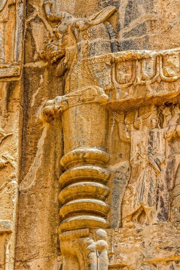 Relevo real dos túmulos de Persepolis fotografia de stock royalty free