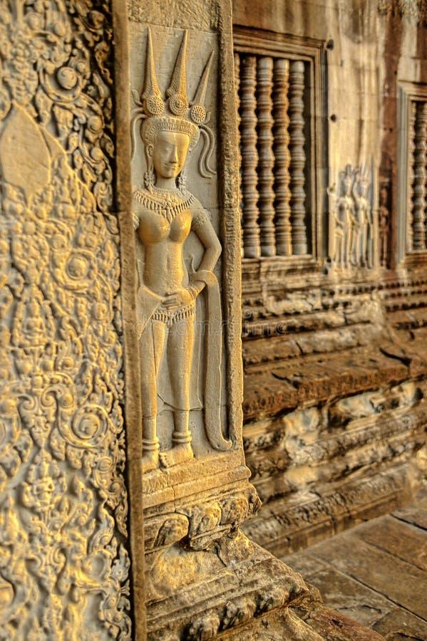 Relevos Cambodia de Bas- imagem de stock royalty free