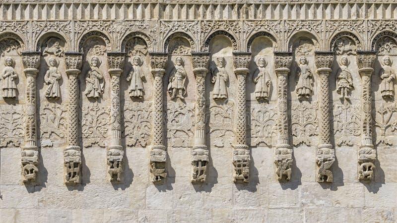 Relevos de Demetrius Cathedral Vladimir foto de stock royalty free