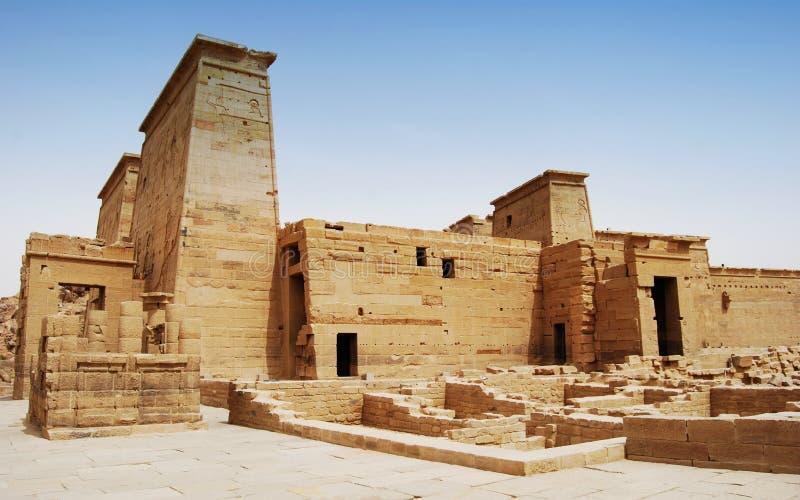 Relevos e colunas da ilha do arquivo, Assuan, Egito fotografia de stock royalty free
