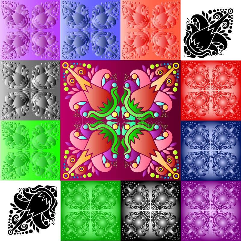 In reliëf gemaakt patroon, een abstractie royalty-vrije stock afbeelding