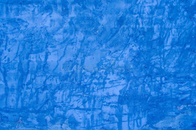 In reliëf gemaakte blauwe sjofele muur Kan als prentbriefkaar worden gebruikt royalty-vrije stock afbeelding