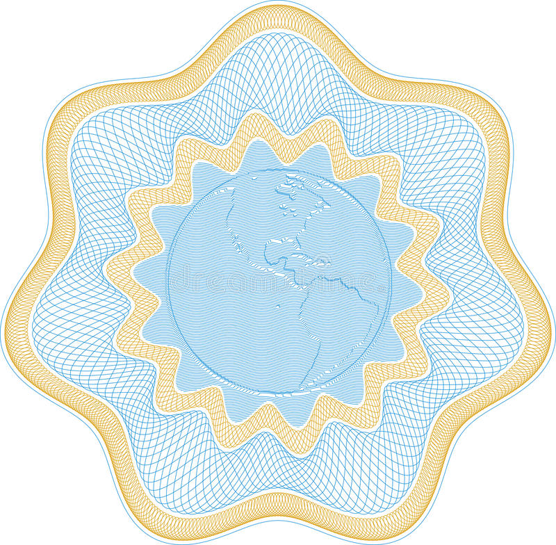 In reliëf gemaakte bolrosetta stock illustratie