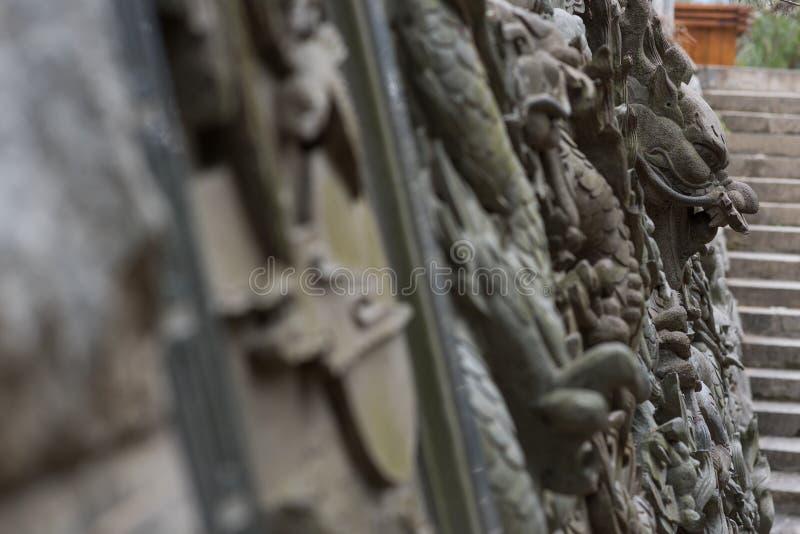 In reliëf gemaakte Draak royalty-vrije stock foto's