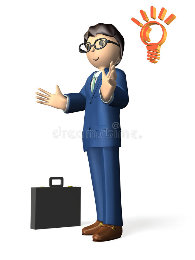Download Reliable business man stock illustration. Illustration of japanese - 34384204