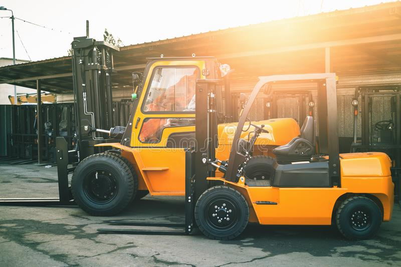 Download Reliable Heavy Loader Forklift Truck Duty Equipment Stock Image