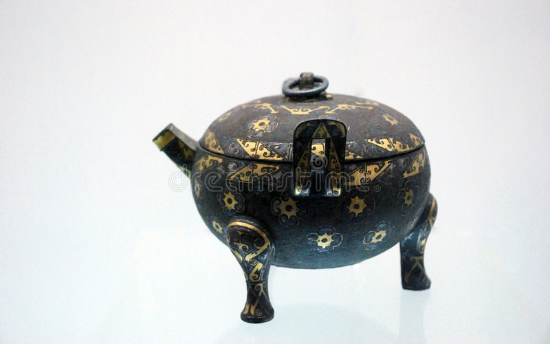 RELIC CHINESE BRONZE WARE stock photography