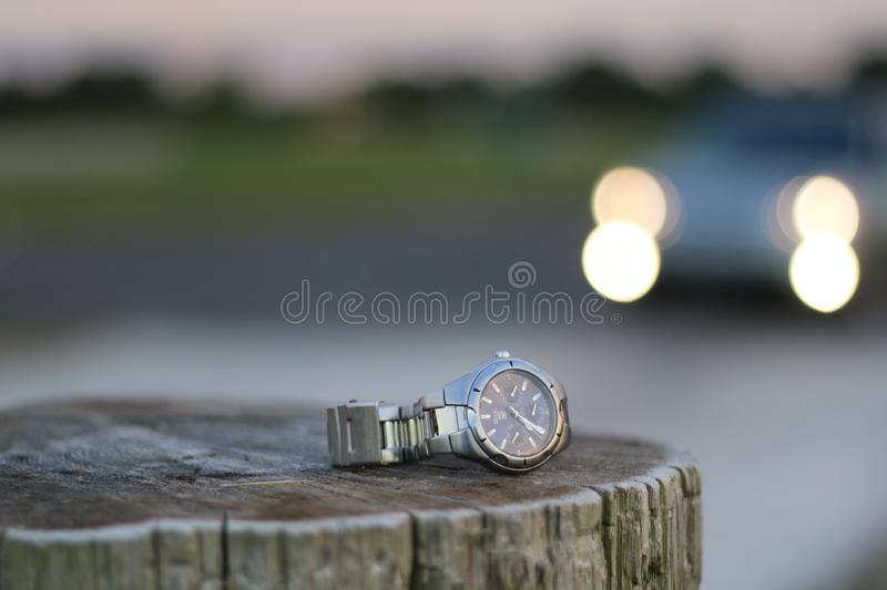 Relic Chrono. We live in a day and age where Smart watches are so very prevalent. Yet, this watch has managed to withstand the test of time royalty free stock photography