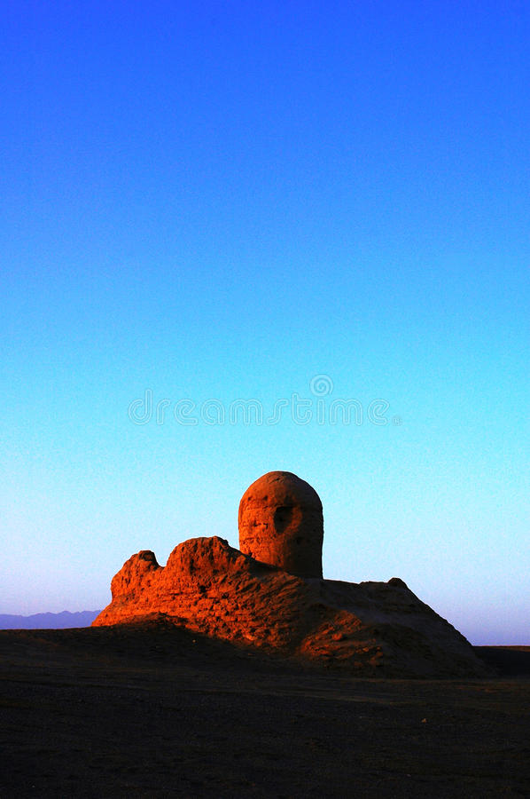 Relics of an ancient town in sinkiang royalty free stock photo