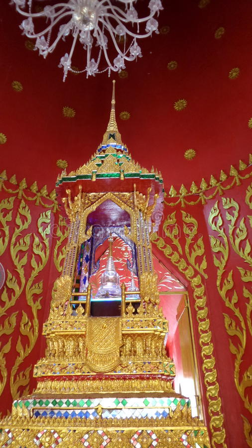 Relics of the Buddha in the stupa stock image