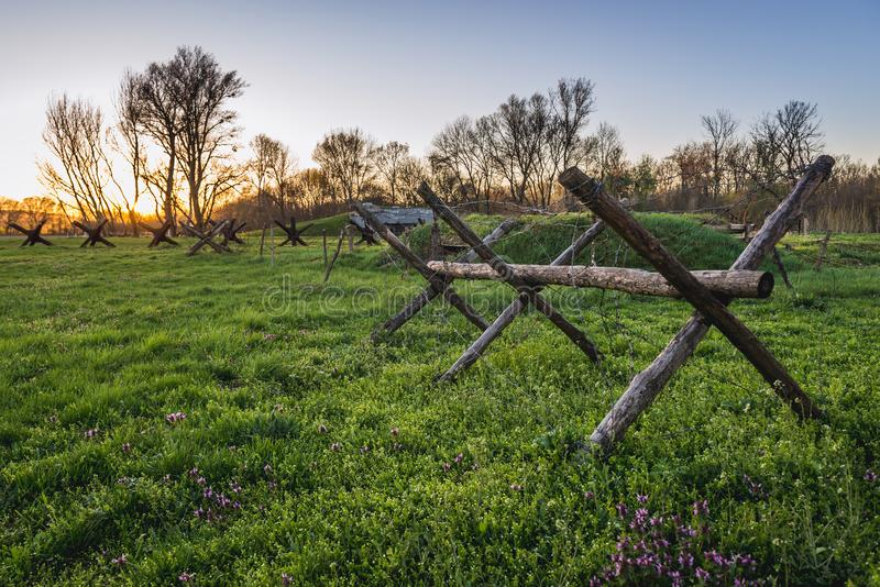 Iron Curtain remains royalty free stock photography
