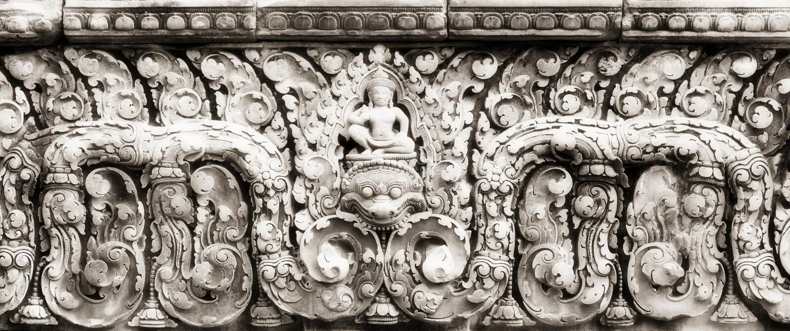 Relief at Banteay Srei royalty free stock images