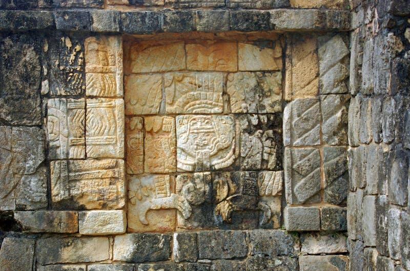 A Relief In Chichen Itza, Mexico Stock Photos